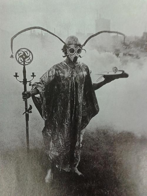 graveyarddust:    Urban Druid performing spirit sorcery in park, around year 1900. Well that's just fucking cool.