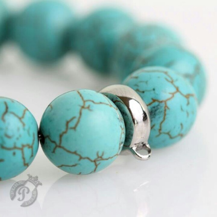 Turquoise charm carrier