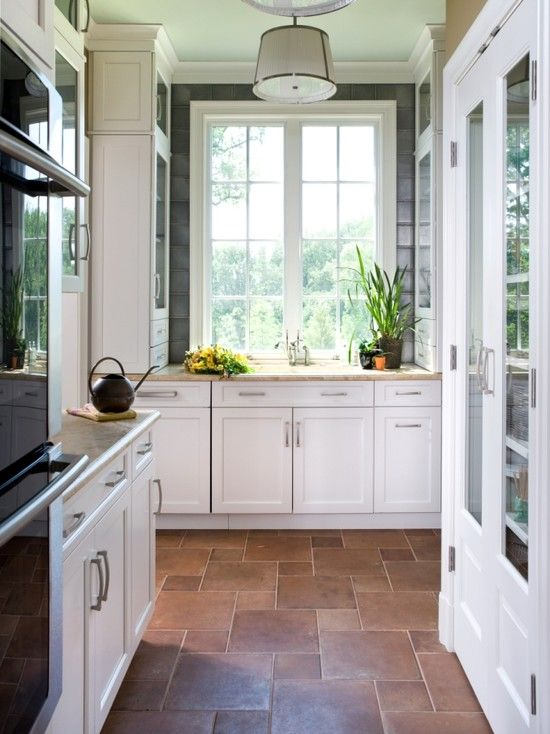 21 best images about flooring on pinterest flooring for White kitchen cabinets with tile floor