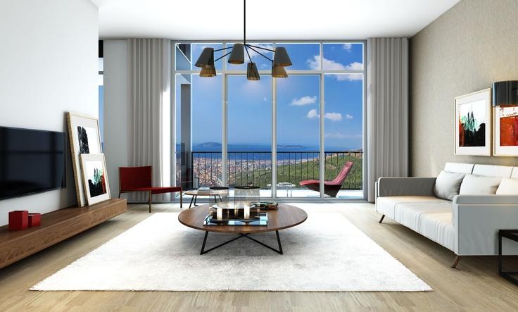 NarLife 3+1 dairelerinden salondan bir görüntü