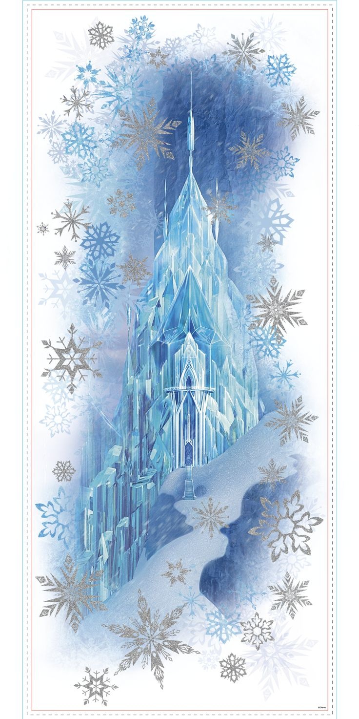 361 best wall murals images on pinterest wall murals babies frozen ice palace with elsa and anna giant wall stickers