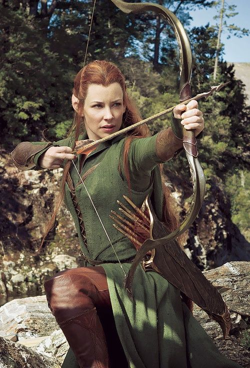 Tauriel, one of the Elves from Mirkwood -