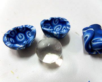 Using Water Absorbing Crystal Gel For Making Hollow Polymer Clay Bead