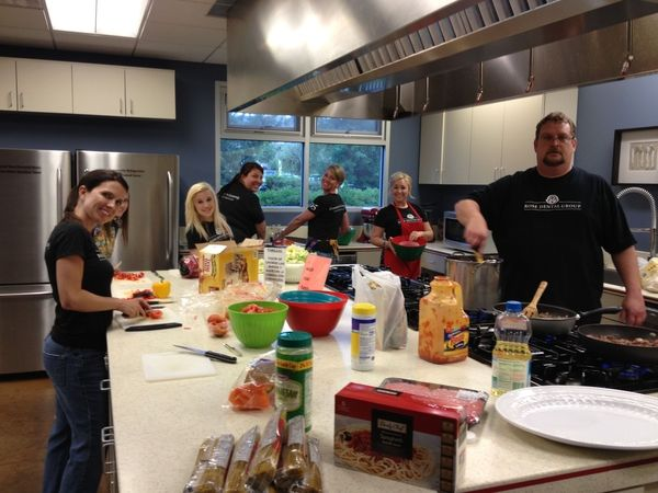 Rose Dental employees thoroughly enjoyed cooking a Spaghetti dinner for the families who are temporarily staying at the Ronald McDonald House while their loved ones are hospitalized. #RDGinCommunity #RonaldMcdonaldHouse