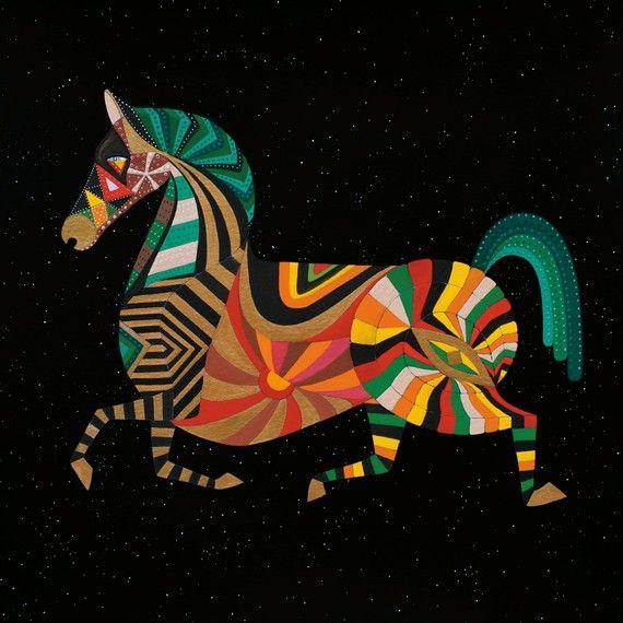 ZODIAC HORSE ART  Chinese Zodiac Animals by Thailan by Thailan, $5.00