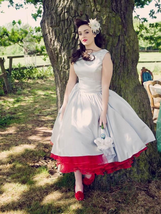 131 best tea length dresses images on pinterest for Red tea length wedding dress