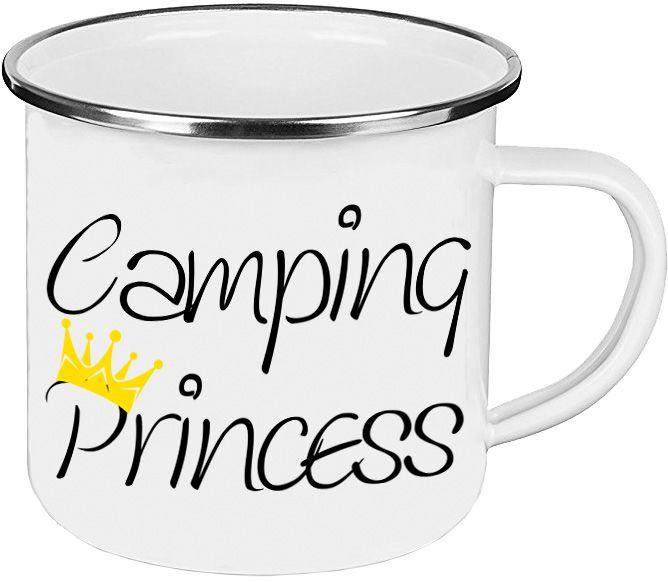 emaille tasse camping princess geschenke f r camper. Black Bedroom Furniture Sets. Home Design Ideas