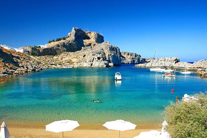 Lindos beach-Rhodes island