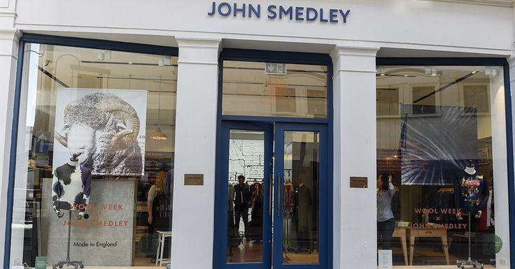Our Jermyn St store display for UK #WoolWeek 2016