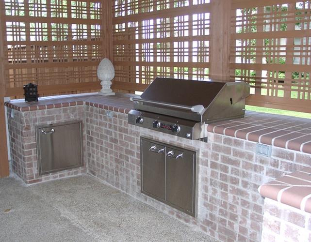 Outdoor Brick Barbecue Kitchen Kiosk