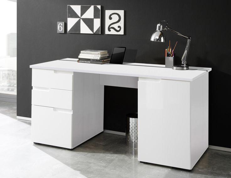 Schreibtisch büro modern  Die besten 25+ Schreibtisch weiss Ideen auf Pinterest | Weiße ...