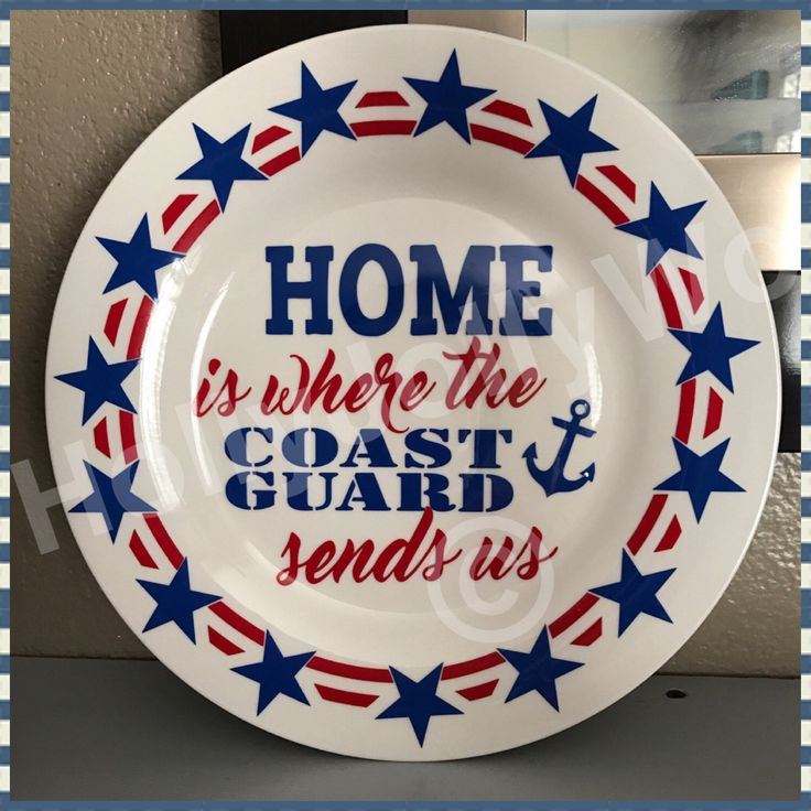 A personal favorite from my Etsy shop https://www.etsy.com/listing/508259315/military-plates-coast-guard-navy-marines
