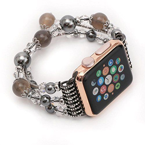 GBSELL Fashion Sports Beaded Bracelet Strap Band For Apple Watch Series 2/1 38mm (C)
