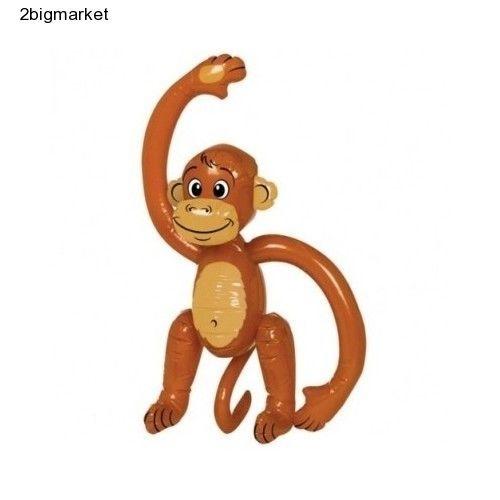 Inflatable Monkey Hawaiian Jungle Ape Kids Party Bedroom Decoration Toy 60 cm