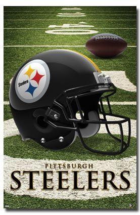 NFL Pittsburgh Steelers Helmet Logo Poster