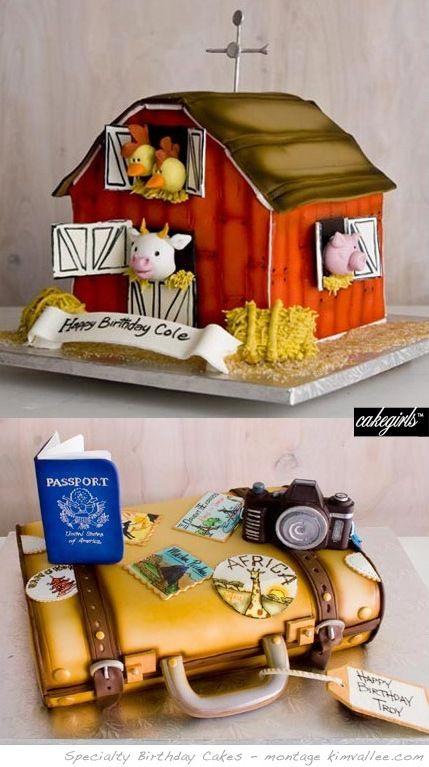 love the farm birthday cake