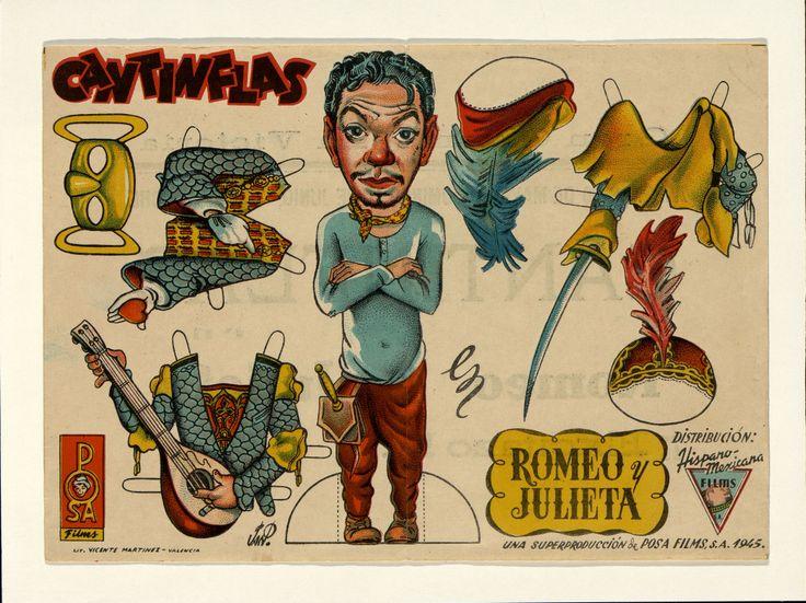 9.    Cantinflas en «Romeo y Julieta». Dirigida por Miguel M. Delgado. Valencia: Lit. Vicente Martínez, 1945.#ProgramasdeMano #BbtkULL #Troquelados #DiadelLibro2014
