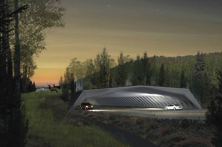 The winning design in an ARC competition for a crossing over West Vail Pass on Interstate 70 in Colorado, about 90 miles west of Denver. PHOTO: HNTB & MICHAEL VAN VALKENBURG ASSOCIATES COURTESY ARC SOLUTIONS