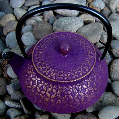 Japanese Tetsubin Teapots - Ume Houshu (Plum Jewel)