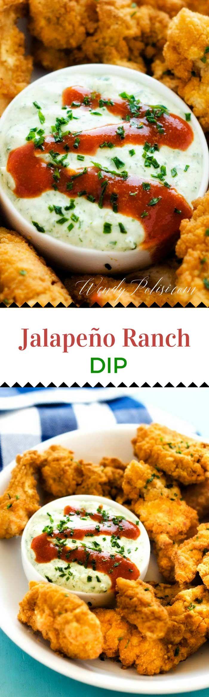 Jalapeño Ranch Dip via @wendypolisi