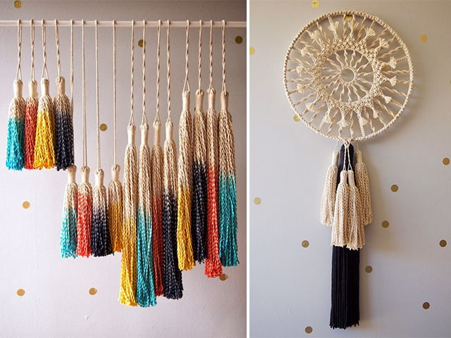 how to make a spiral macrame wall hanging by apairandaspare