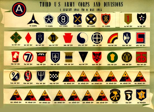 3rd Army unit patches small.jpg (534×389)