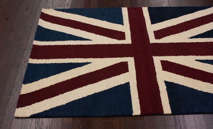 Santa Ana Union Jack Denim Rug | Contemporary Rugs. (Buddy's room)
