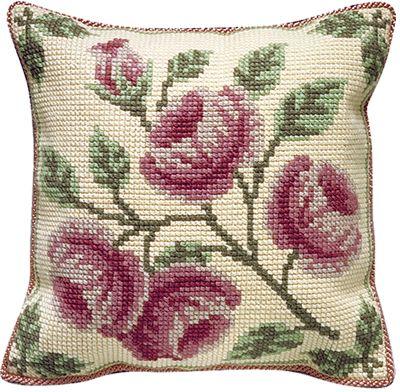 Edensor Printed Cross Stitch Cushion Front Kit from Brigantia Needlework