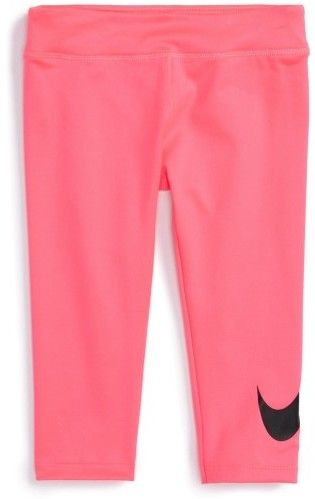 Nike Girls Dri-Fit Swoosh Casual Leggings hyperpink 6x11