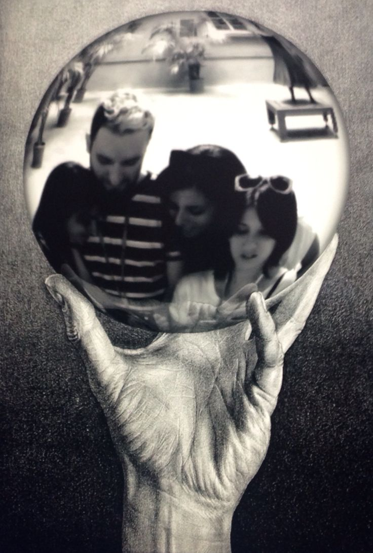 Friends in the sphere Black and white emotion Escher- Bologna