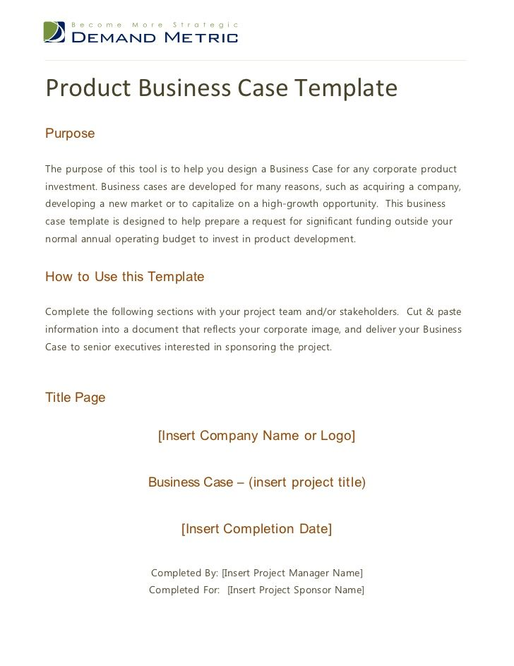 Más de 25 ideas increíbles sobre Business case template en - business case template word