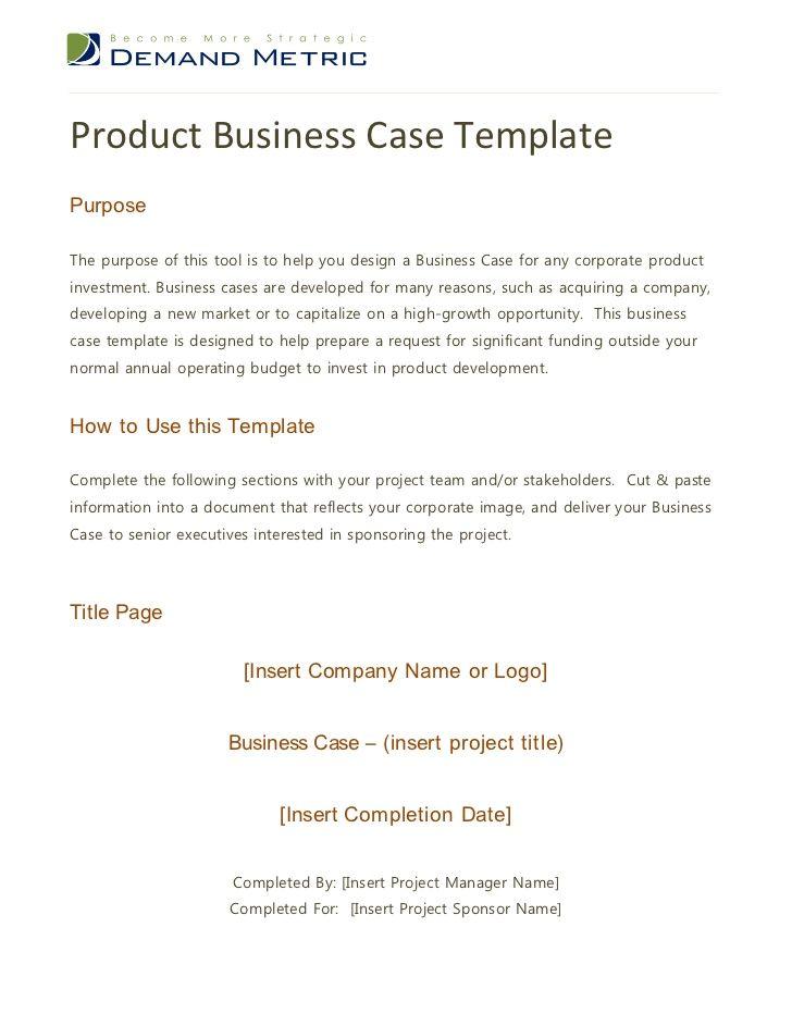 Más de 25 ideas increíbles sobre Business case template en - case analysis template