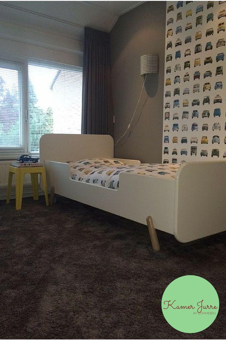 tapijt Desso Smaragd, bed Ukkepuk Vrolijk, behang Studio Ditte, gordijnen Artelux Jurre. Styling Avalon.