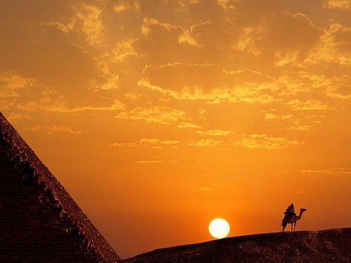 Sunset , Pyramid of Kheops, Gizah - Egypt