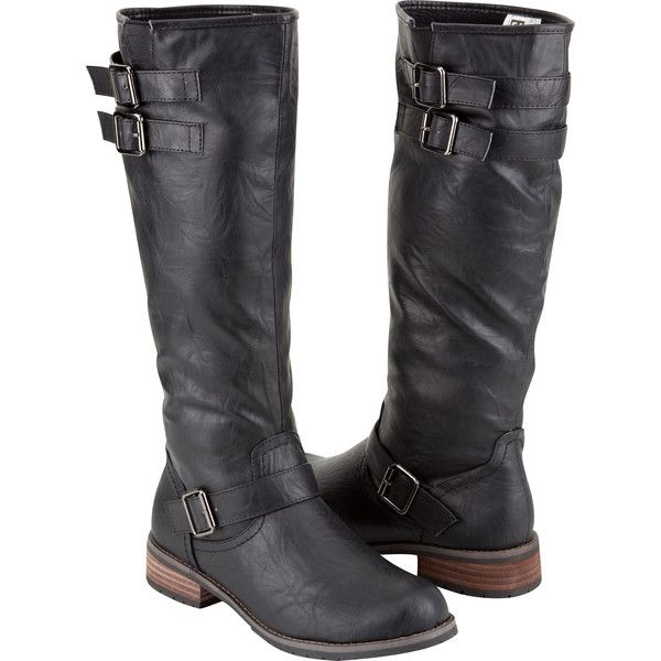 Military Womens Riding Boots ($45) ❤ liked on Polyvore