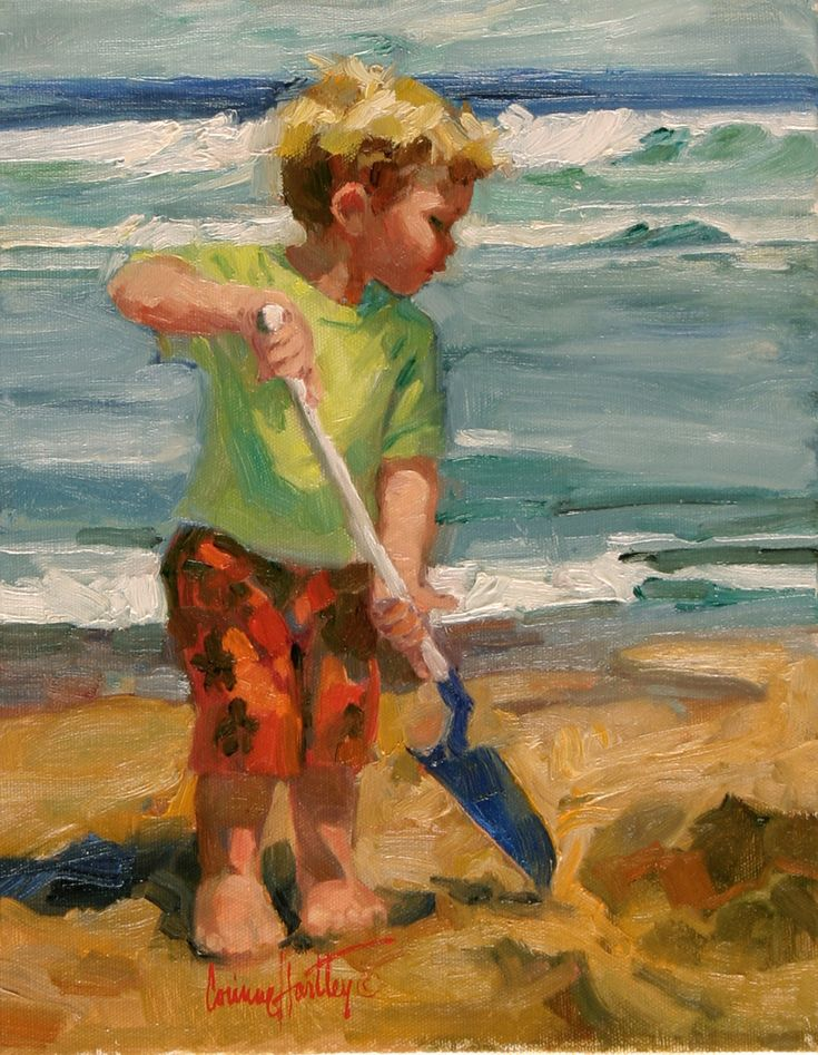 880 best coastal people art images on pinterest at the for Oil painting for kids