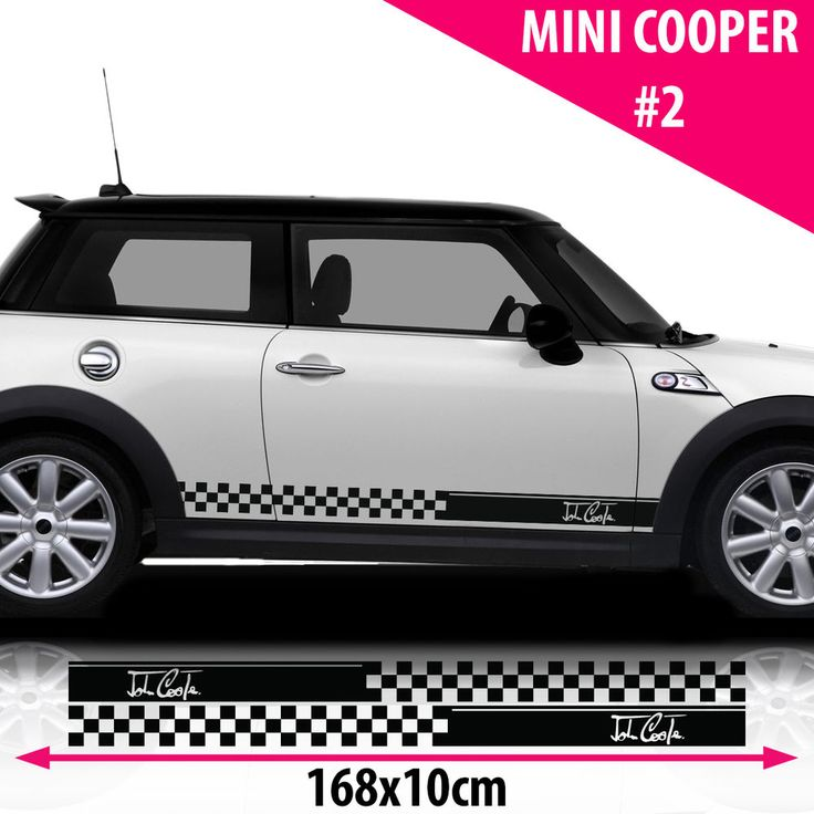 Mini Cooper Signature Side Racing Stripes Stickers Decal  Size 168x10 Cm