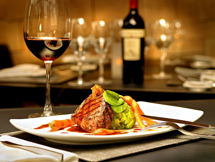 Image result for fancy restaurant with wine