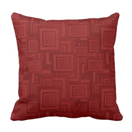 Retro Abstract Rectangle Pattern Red Throw Pillow - home gifts ideas decor special unique custom individual customized individualized