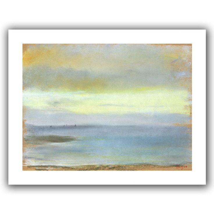 'Marine Sunset' by Edgar Degas Canvas Poster