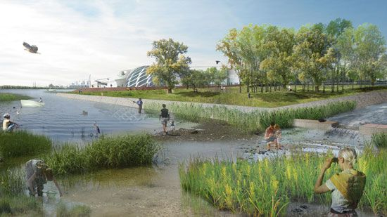 Minneapolis Riverfront Design Competition - STOSS Landscape Urbanism #render #summer #design #competition #landscape #architecture
