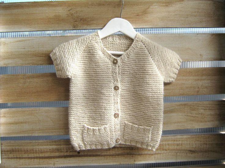 Chaleco manga corta 100% lana de alpaca
