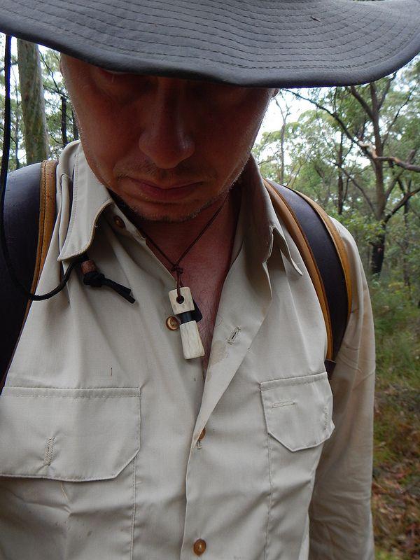 Back up antler firesteel necklace...