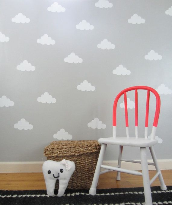 Vinyl Cloud Wall Decal by lishieshop on Etsy, $6.00