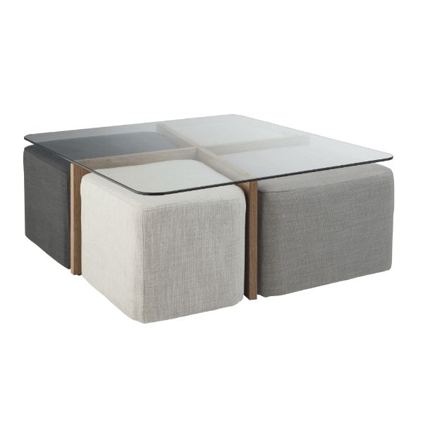 25 best ideas about table basse avec pouf on pinterest - Table basse blanche avec pouf ...