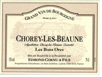Edmond Cornu & Fils Chorey-les-Beaune Les Bons Ores 2008 - affordable old-vine Pinot Noir from Burgundy