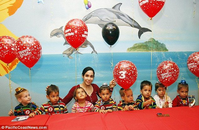 Suleman octuplets, the highest order multiple birth (that all survived longer than ~1 week) in the world, turned 3 this January.