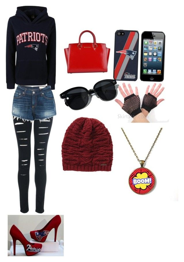 """""""Patriots rock"""" by mmer ❤ liked on Polyvore featuring rag & bone, MICHAEL Michael Kors, Oliver Peoples and Billabong"""