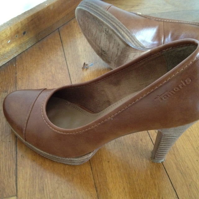 Brown Tamaris Shoes - I love these!