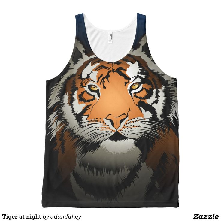 Tiger at night All-Over print tank top